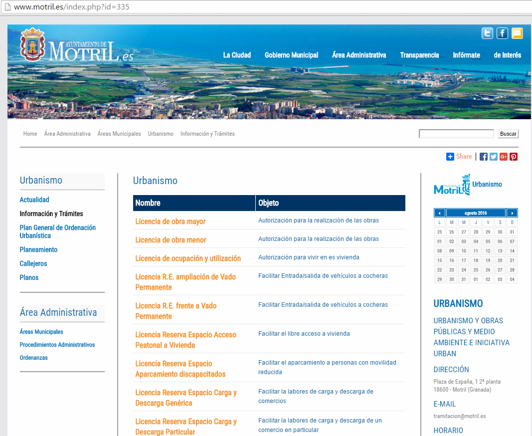 La web del ayuntamiento de motril incorpora informaci n for Tramites web ministerio del interior