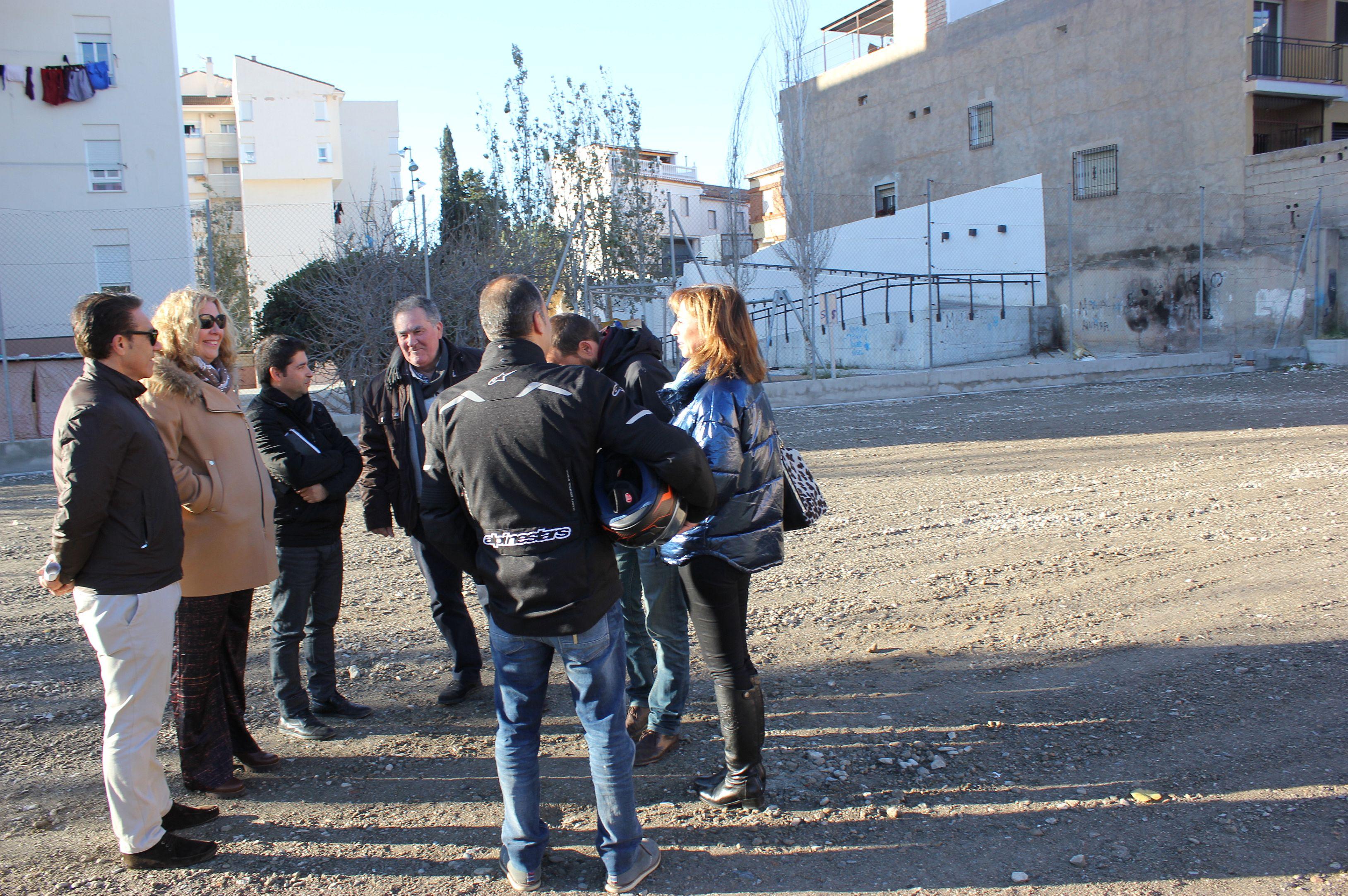 Comienzan las obras de la pista deportiva del barrio de Cuartel de ...